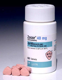 Zocor (simvastatin) for high cholesterol